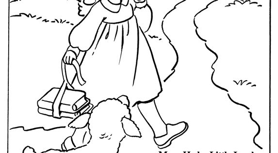 Coloring Page Inkspired Musings Mary Had A Little Lamb