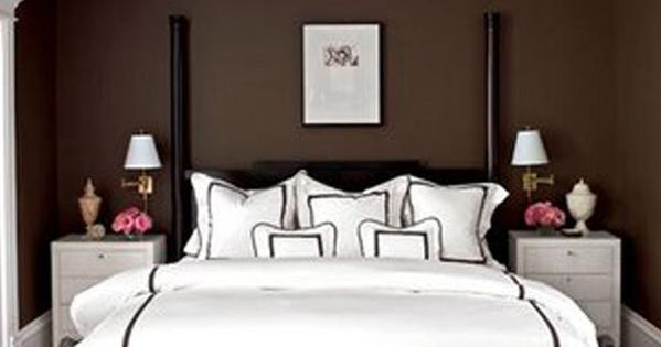 Chocolate Brown + White Bedroom