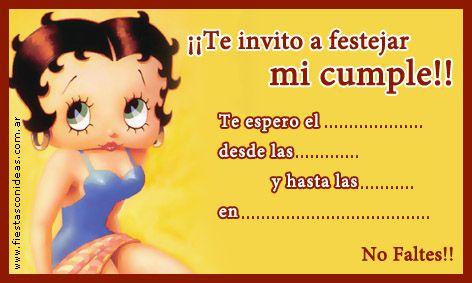 Tarjeta De Cumpleaños De Betty Boop Tarjetas De Cumpleaños