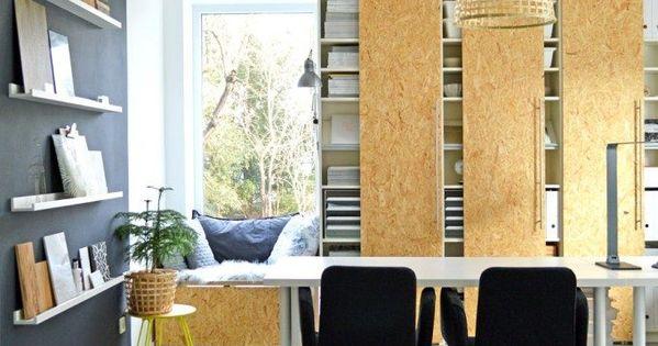 Ikea billy boekenkast hack met osb schuifdeuren werkplek inspiratie pinterest meisjes - Kantoor modulaire interieur ...