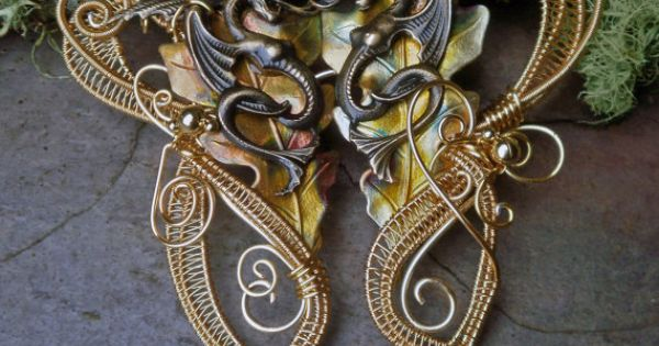 Gothic Steampunk Dragon Cloak Clasp for Cape by ...