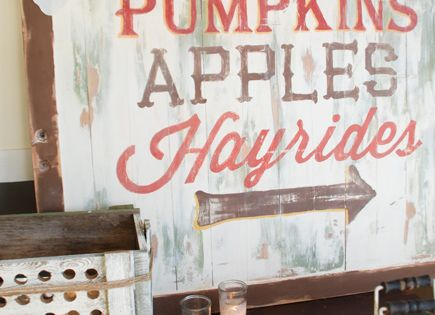 Cute fall sign for Witherspoons!! 6 DIY Autumn Decorations for Under $6