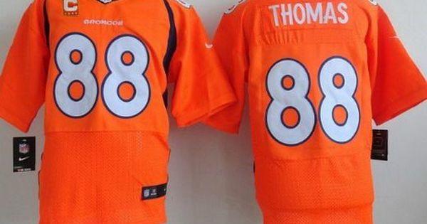 40bbda98a87 ... Customized Navy Blue Game Jersey Denver Broncos 88 Demaryius Thomas  Orange Team Color C Patch NFL Nike Elite Mens Jersey ...