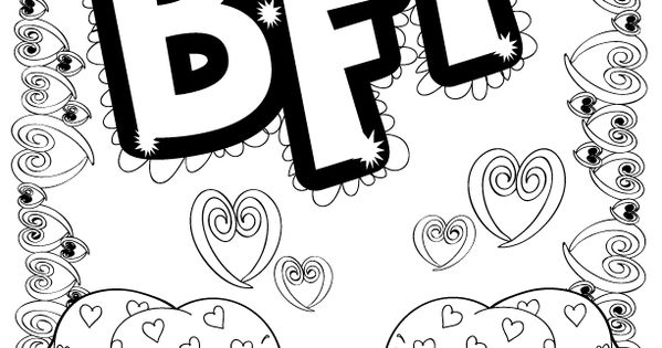 best friend words coloring pages