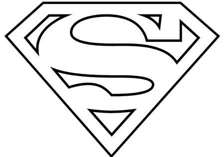 superman logo coloring page - superman logo coloring pages pr sentation pinterest