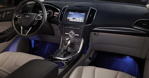 2018 Edge Titanium Interior With Ambient Lighting Ford Edge Ford Ford Edge Suv
