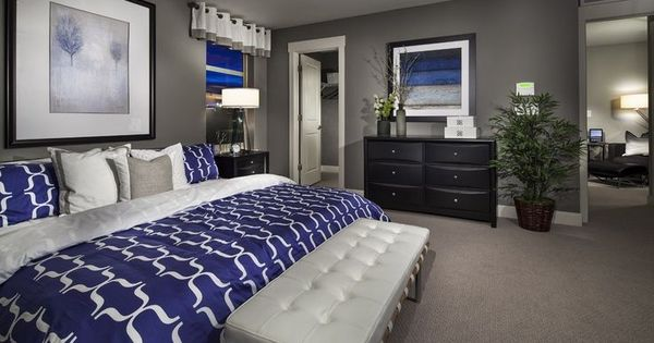 Best Cobalt Blue And Gray Master Bedroom Home Sweet Home 400 x 300