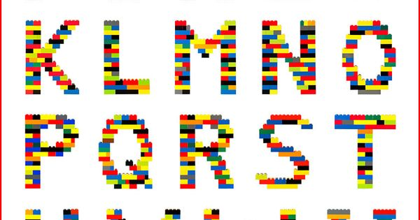 simple alphabet chart  would be cool to actually make lego