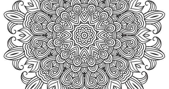 Coloriage mandala ethnique fleur de lys coloring mandala pinterest - Coloriage fleur de lys ...