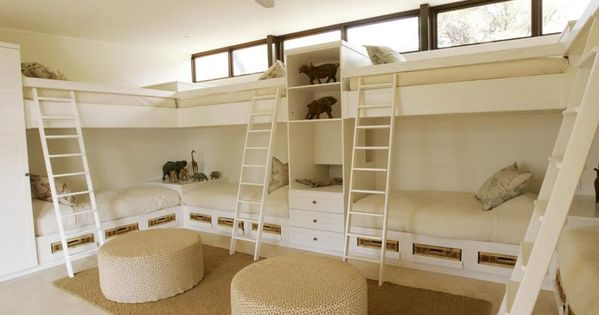 best bunkbed configuration... For when John and I purchase our family's beach