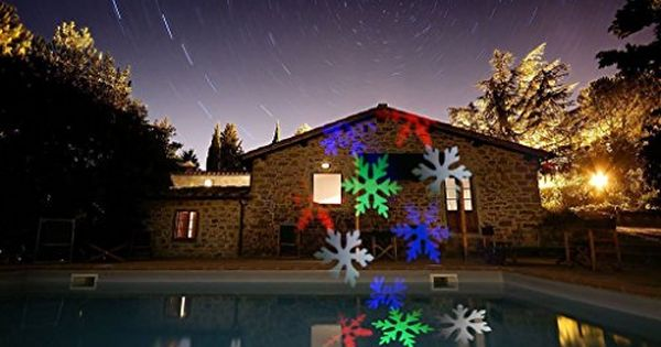 Crazyfire Led Projection Lightwaterproof Colorful Snowflakes Projectable Led Night Light Rotating Led Garden Lights Landscape Spotlights Laser Christmas Lights