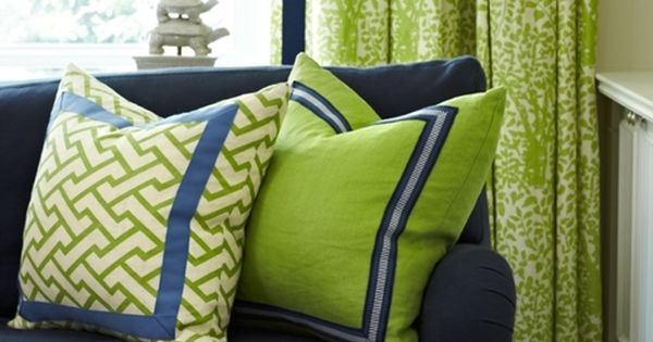 outstanding navy white living room | Living Room - Great colour palette ~ Navy, blue, Lime ...