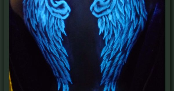 UV Black Light Wings Tattoo - Tattoos.net | Decor ideas ...