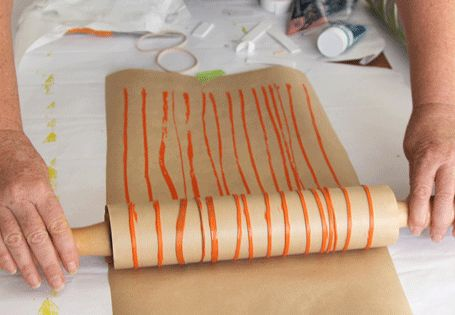 RUBBER BANDS! (DIY Wrapping Paper, Cards, Wallpaper & More With Roller Pins