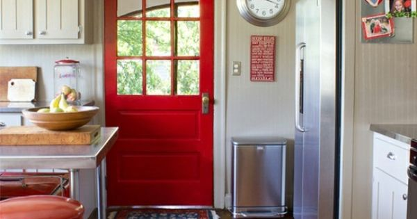 Red door. Love colorful doors inside and outside.