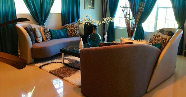 teal and brown living room - Google Search | Home is Where ...