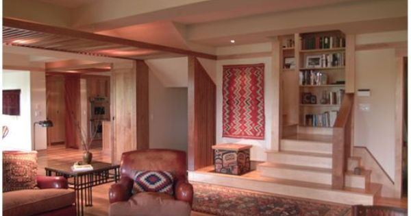 Stairs For Seating And Display In A House By Architect And