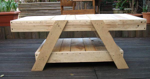 Coffee table creations bois palettes recup pinterest tables basses en - Fabrication table basse en palette ...