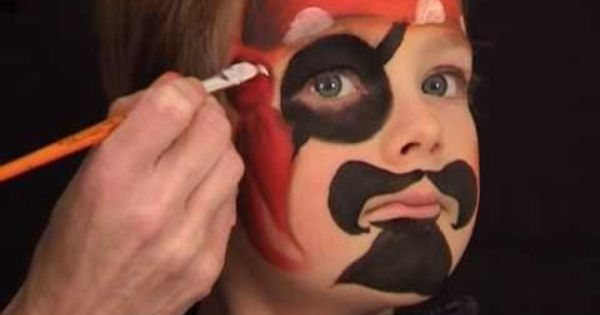 pirat schminken pirat kinderschminken vorlage video. Black Bedroom Furniture Sets. Home Design Ideas
