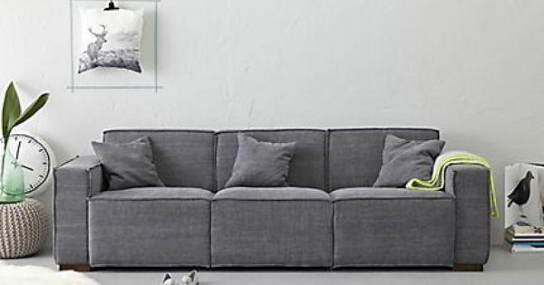 blauwe bank met grijze muur woonkamer pinterest living