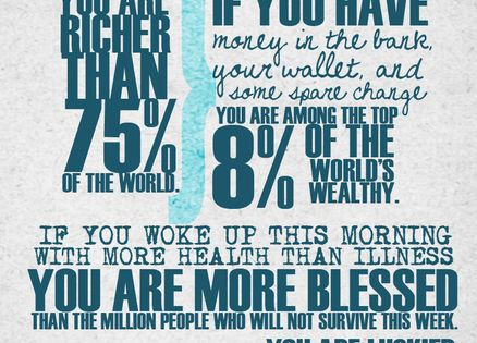 True quote... Be thankful
