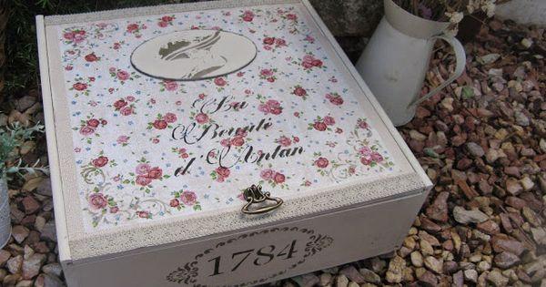Otra versi n de caja de vino reciclado de cajas y botes - Decoracion vintage reciclado ...