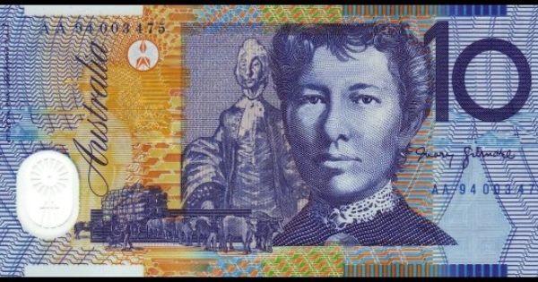 Australian 10 Decimal Polymer Note Back Bank Notes Dollar Note Australian Money