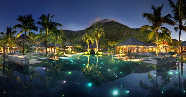 Hilton Seychelles Labriz Resort & Spa - Outdoor Pool At Night