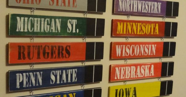 Man Cave Conference : Big ten conference standings board made to order