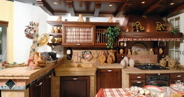Cucine rustiche cerca con google cucine pinterest for Cucina in muratura rustica