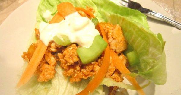 Buffalo Turkey LettuceWraps - DELICOUS!!!!