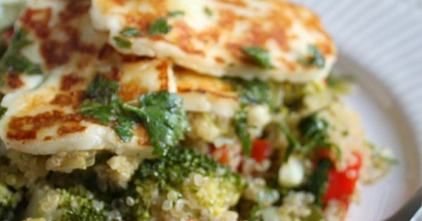 Quinoa salad, Grilled halloumi and Quinoa on Pinterest