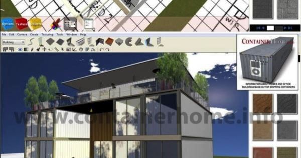 3d Shipping Container Home Design Software Provided Free To Our Members The Free Version Can Not To Complex Roofs Landscaping Or Interior Design