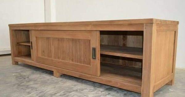 Cabinet Meja Tv Minimalis Jati Ukuran P 150 X L 48 X T 60 Cm Material Kayu Jati Finishing Natural Melamine Har Wood Tv Unit Teak Furniture Furniture