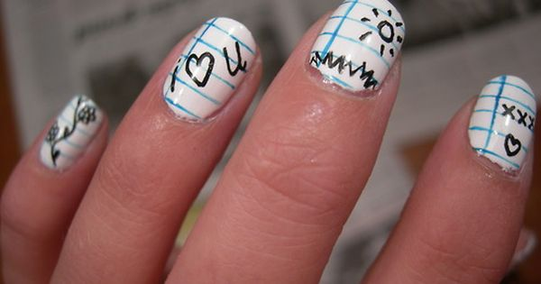cute back to school nail designs
