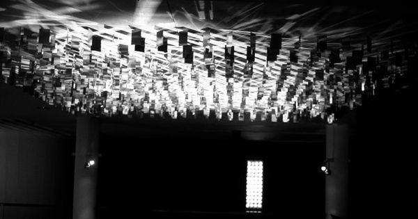 Continuel lumi re au plafond 120 x 120 x 17 cm 1963 julio le parc light pinterest - Lumiere au plafond ...