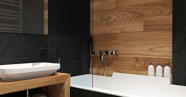 Carrelage salle de bain imitation bois 34 id es modernes for Carrelage mural bois