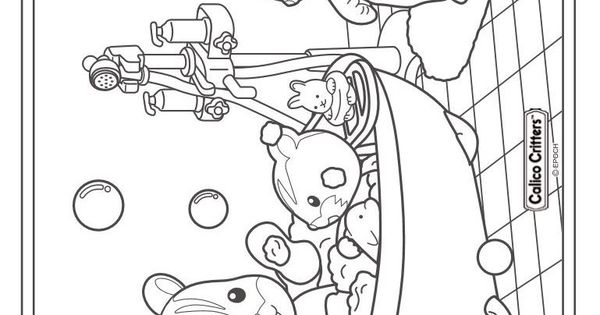 sylvanian families colouring pages page 3