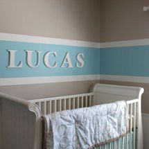 Striped Nursery Decorating Ideas For Walls Of A Baby Boy Or Girl