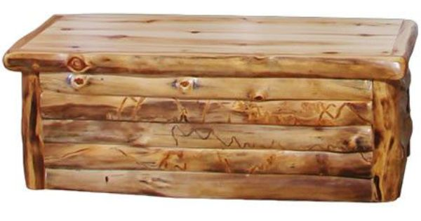 Hope Chest In Log Front 60 W Trunks Pinterest Logs