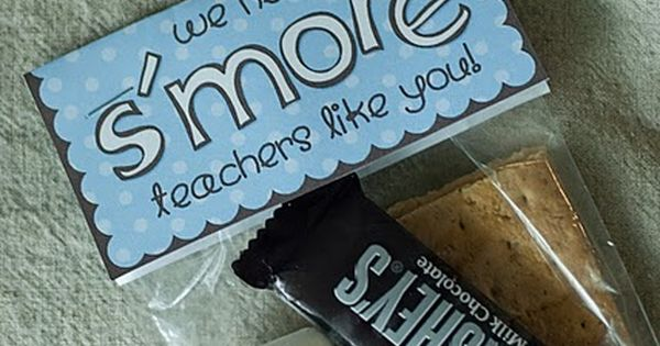 "Cute idea for volunteers! Just change the word ""teachers"" to ""volunteers"" and"