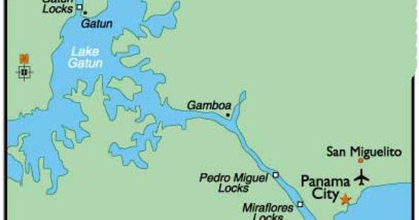 Panama Canal Map I Lived On The Atlantic Coast Where The Sun