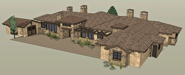 Rustic Tuscan Style House Plan 1504 Grand Junction In 2020 Mediterranean Homes Spanish Style Homes Craftsman House