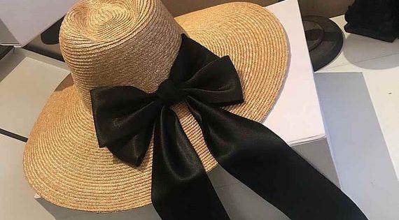 Big Cornice Cap Bowler Hat Straw Hat Sunshade Hat Beach Hat Summer Woman Bowler Hat Large Brim Hat Sun Protection Hat