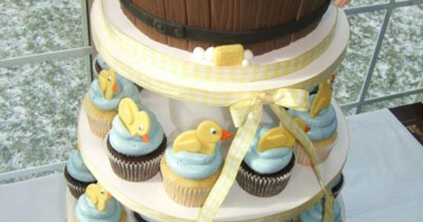 baby shower cupcake cake a doable idea pinterest shower baby cakes and focus on. Black Bedroom Furniture Sets. Home Design Ideas