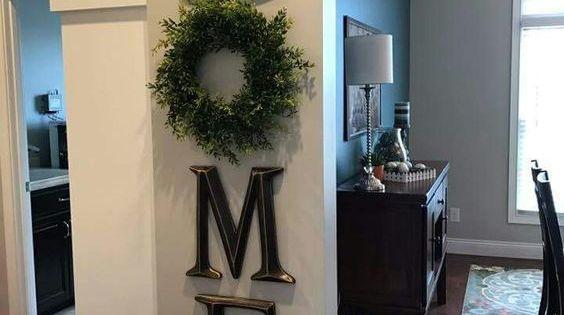 Home Decor Letter Decor H O M E Use A Wreath As The O Diy Decor Signs Love Rustic