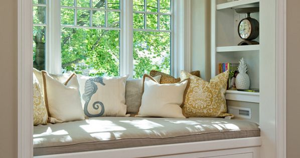 I have dreamed of a reading bay window seat my entire life!!