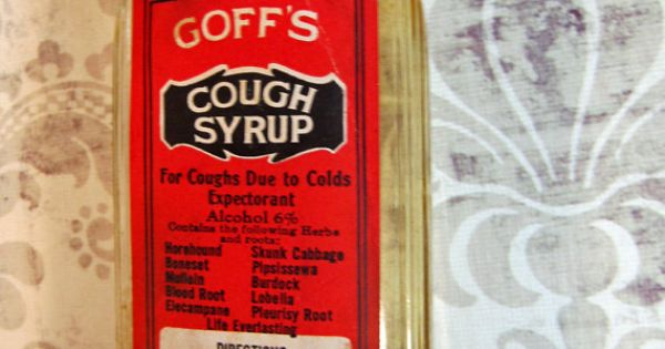 Vintage bottle Goff's cough syrup 1940s with box by ...