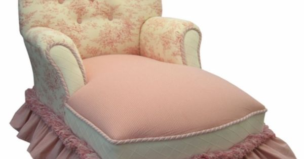 Child queen anne chaise lounge toile pink queen anne for Toile chaise longue