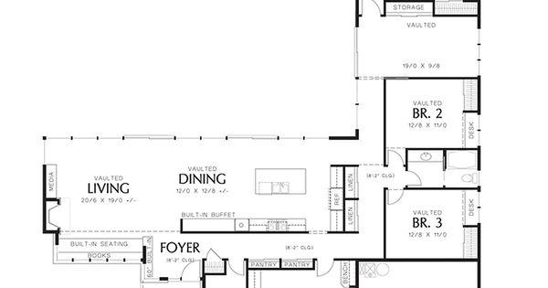 Modern Style House Plan 3 Beds 2 5 Baths 2498 Sq Ft Plan